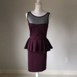 NWT Fitted Peplum Dress